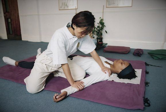 Japanese massage session